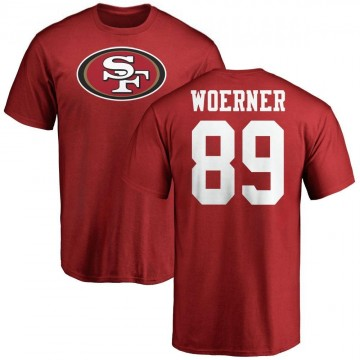 Men's Charlie Woerner San Francisco 49ers Name & Number Logo T-Shirt - Red