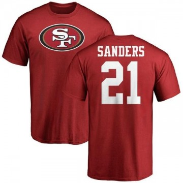 Men's Deion Sanders San Francisco 49ers Name & Number Logo T-Shirt - Red