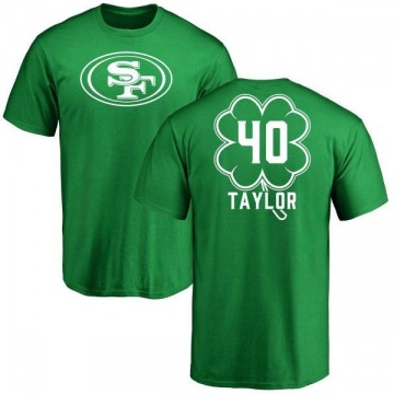 Men's Jamar Taylor San Francisco 49ers Green St. Patrick's Day Name & Number T-Shirt
