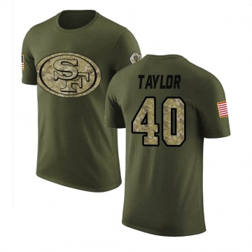Men's Jamar Taylor San Francisco 49ers Olive Salute to Service Legend T-Shirt