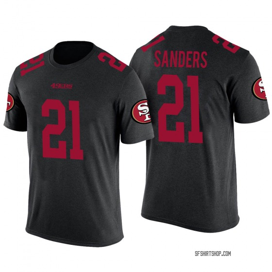 Youth Deion Sanders San Francisco 49ers Black Color Rush Legend T-Shirt