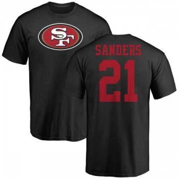 Youth Deion Sanders San Francisco 49ers Name & Number Logo T-Shirt - Black